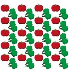 tomato broccoli vegetables design seamless pattern vector image