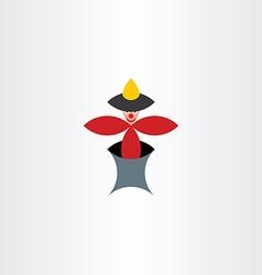 clown toy icon design vector image