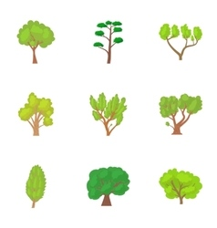 Family woody icons set cartoon style vector