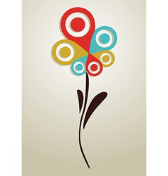 Gps mark conceptual flower vector image vector image