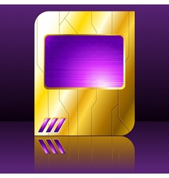purple and gold futuristic sign vector image vector image