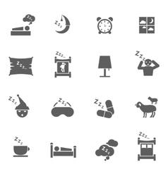 Sleep icons vector image