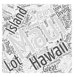 What to expect at a maui hawaii vacation word vector