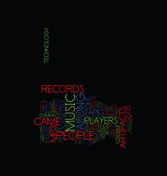 Are records text background word cloud concept vector