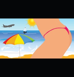 girl on the beach part four vector image vector image
