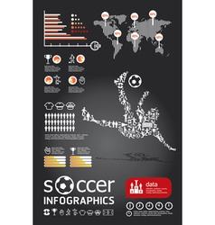 soccerr info graphic4 vector image vector image