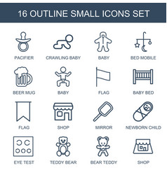 16 small icons vector