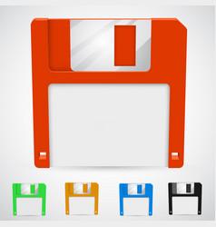 A floppy disk vector