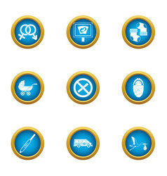 Ancestral icons set flat style vector
