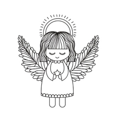 Angel cartoon of christmas season design vector