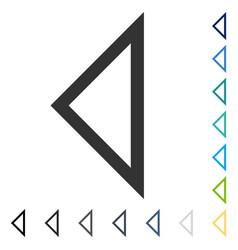Arrowhead left icon vector