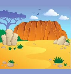 Australian theme landscape 1 vector