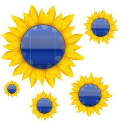 Background of Blue electric solar panel with vector