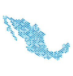 Blue dot mexico map vector