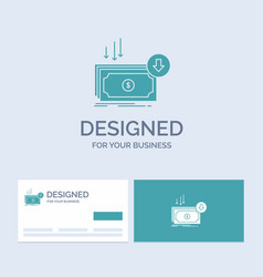 business cost cut expense finance money business vector image