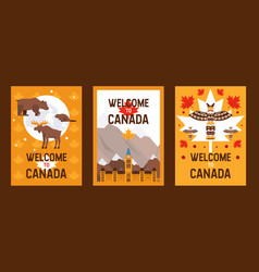 canadian symbols and landmarks vector image