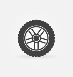 car wheel with tire icon or logo element vector image