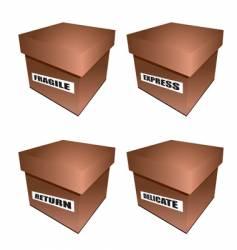 cardborad box notice vector image