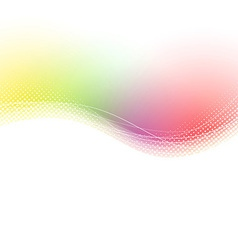 Colorful bright waves lines swoosh background vector