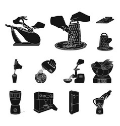 cooking food black icons in set collection for vector image
