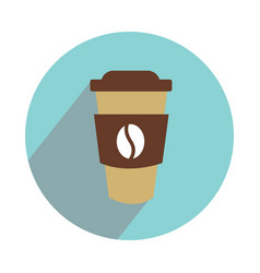 cup of coffe on the go on white background flat vector image