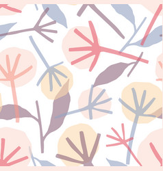 dandelion hand drawn seamless pattern vector image