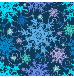 Decorative seamless pattern colorful snowflakes vector