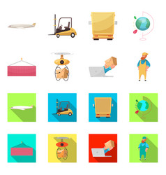 Design of goods and cargo icon collection vector