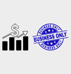 dollar trends icon and grunge business only vector image