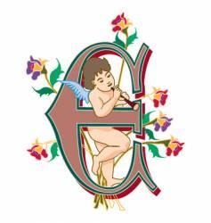 Fairytale letter e vector