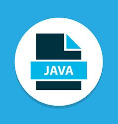 File java icon colored symbol premium quality vector
