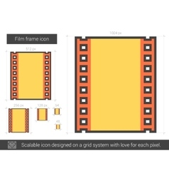 Film frame line icon vector