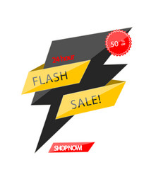 Flash sale 24 hour 50 off origami image vector