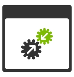 Gears Integration Calendar Page Flat Icon vector