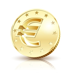 gold euro vector image