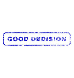 good decision rubber stamp vector image