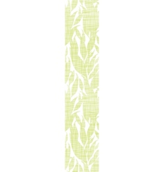 Green leaves textile texture vertical seamless vector image