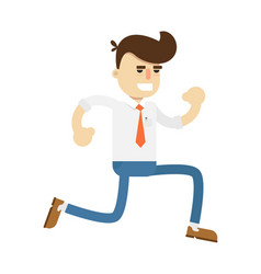 happy running businessman icon vector image