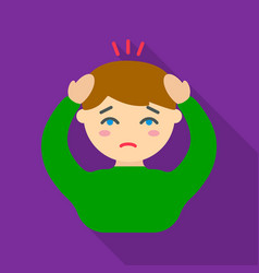 headache icon flate single sick icon from the big vector image