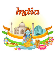 Indian culture traditional template vector