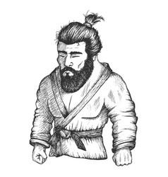Japan fighter judo or jiu-jitsu vector