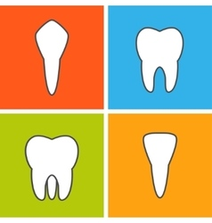 Kinds of tooth vector image