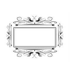lacy frame for photography on a white background vector image