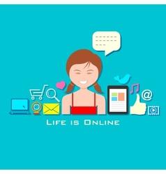 Life is Online vector image