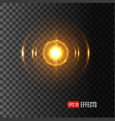 light shine in flash lens flare effect icon vector image