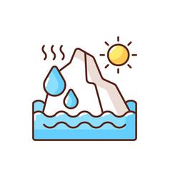 Melting glaciers rgb color icon vector