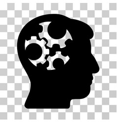 mind gears icon vector image