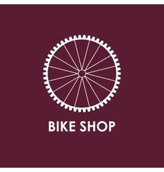 Modern of bicycle wheel vector