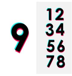 Number 9 set template design design vector