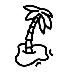 Palm turkey icon outline style vector